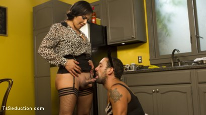 Photo number 7 from Punished By Her Dominating Cock shot for TS Seduction on Kink.com. Featuring DJ and TS Foxxy in hardcore BDSM & Fetish porn.
