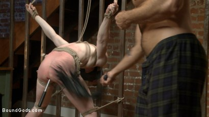 Photo number 4 from Bound missionary gets split wide open with double fisting & sounding shot for Bound Gods on Kink.com. Featuring Jessie Colter and Jack Redmond in hardcore BDSM & Fetish porn.