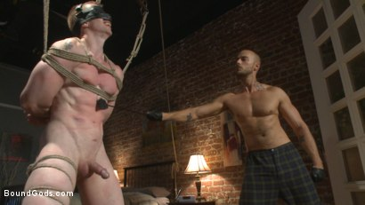 Photo number 5 from Bound missionary gets split wide open with double fisting & sounding shot for Bound Gods on Kink.com. Featuring Jessie Colter and Jack Redmond in hardcore BDSM & Fetish porn.