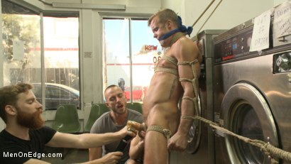 Photo number 5 from Cute guy overpowered and edged in the laundromat shot for Men On Edge on Kink.com. Featuring Connor Patricks in hardcore BDSM & Fetish porn.