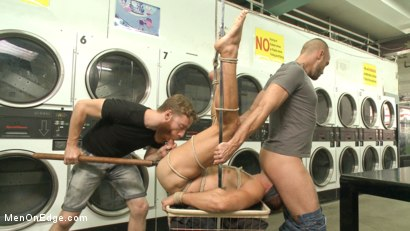 Photo number 13 from Cute guy overpowered and edged in the laundromat shot for Men On Edge on Kink.com. Featuring Connor Patricks in hardcore BDSM & Fetish porn.