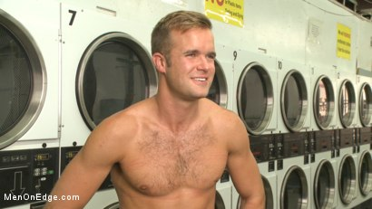 Photo number 15 from Cute guy overpowered and edged in the laundromat shot for Men On Edge on Kink.com. Featuring Connor Patricks in hardcore BDSM & Fetish porn.
