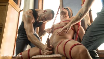 Photo number 8 from Bi southern hunk gets his first edging in bondage shot for Men On Edge on Kink.com. Featuring Rob Ryder in hardcore BDSM & Fetish porn.