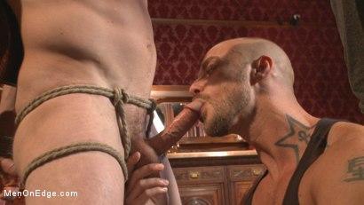 Photo number 4 from Edged so intensely that this tall stud shoots twice shot for Men On Edge on Kink.com. Featuring Daniel Lament in hardcore BDSM & Fetish porn.