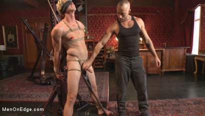 Photo number 5 from Edged so intensely that this tall stud shoots twice shot for Men On Edge on Kink.com. Featuring Daniel Lament in hardcore BDSM & Fetish porn.