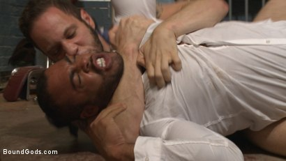 Photo number 4 from The Twisted Doctor's Punishment  shot for Bound Gods on Kink.com. Featuring Wolf Hudson and Micah Brandt in hardcore BDSM & Fetish porn.