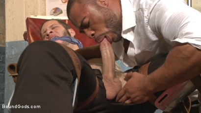 Photo number 2 from The Twisted Doctor's Punishment  shot for Bound Gods on Kink.com. Featuring Wolf Hudson and Micah Brandt in hardcore BDSM & Fetish porn.