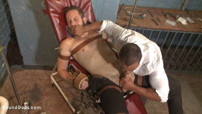 Photo number 1 from The Twisted Doctor's Punishment  shot for Bound Gods on Kink.com. Featuring Wolf Hudson and Micah Brandt in hardcore BDSM & Fetish porn.