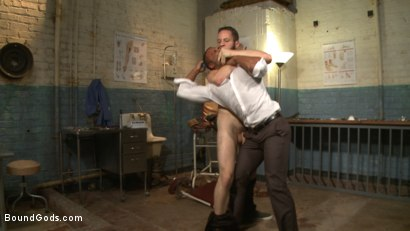 Photo number 3 from The Twisted Doctor's Punishment  shot for Bound Gods on Kink.com. Featuring Wolf Hudson and Micah Brandt in hardcore BDSM & Fetish porn.