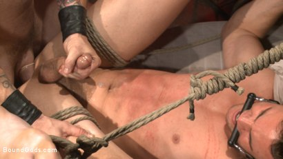 Photo number 12 from The Submission of BJ Adia shot for Bound Gods on Kink.com. Featuring Beau Reed and Trenton Ducati in hardcore BDSM & Fetish porn.