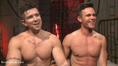 Photo number 14 from The Submission of BJ Adia shot for Bound Gods on Kink.com. Featuring Beau Reed and Trenton Ducati in hardcore BDSM & Fetish porn.