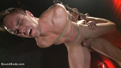 Photo number 7 from The Submission of BJ Adia shot for Bound Gods on Kink.com. Featuring Beau Reed and Trenton Ducati in hardcore BDSM & Fetish porn.
