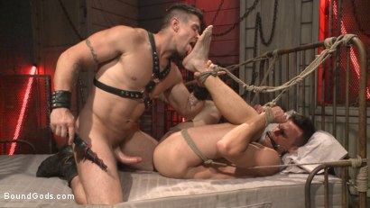Photo number 8 from The Submission of BJ Adia shot for Bound Gods on Kink.com. Featuring Beau Reed and Trenton Ducati in hardcore BDSM & Fetish porn.