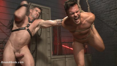 Photo number 4 from The Submission of BJ Adia shot for Bound Gods on Kink.com. Featuring Beau Reed and Trenton Ducati in hardcore BDSM & Fetish porn.