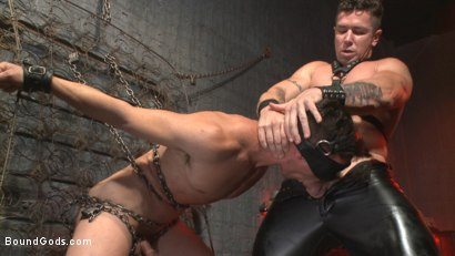 Photo number 5 from The Submission of BJ Adia shot for Bound Gods on Kink.com. Featuring Beau Reed and Trenton Ducati in hardcore BDSM & Fetish porn.