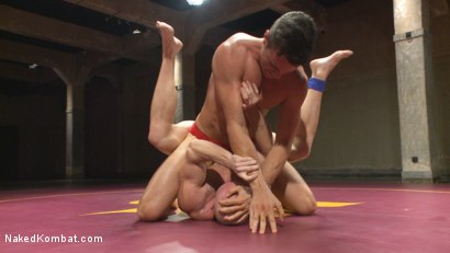 Photo number 2 from Mitch Vaughn vs BJ Adia shot for Naked Kombat on Kink.com. Featuring Mitch Vaughn and Beau Reed in hardcore BDSM & Fetish porn.