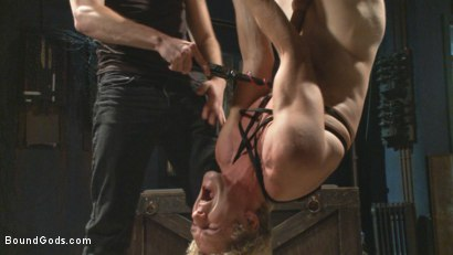 Photo number 3 from Fugitive Wolf Hudson has Officer Lament in his sadistic clutches shot for Bound Gods on Kink.com. Featuring Wolf Hudson and Daniel Lament in hardcore BDSM & Fetish porn.