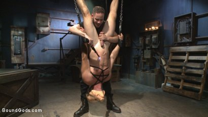 Photo number 2 from Fugitive Wolf Hudson has Officer Lament in his sadistic clutches shot for Bound Gods on Kink.com. Featuring Wolf Hudson and Daniel Lament in hardcore BDSM & Fetish porn.
