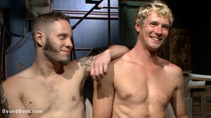 Photo number 15 from Fugitive Wolf Hudson has Officer Lament in his sadistic clutches shot for Bound Gods on Kink.com. Featuring Wolf Hudson and Daniel Lament in hardcore BDSM & Fetish porn.