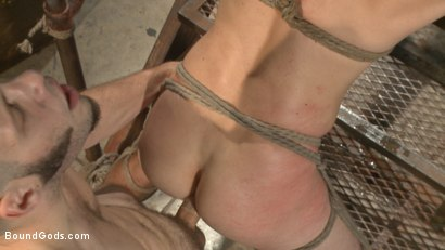 Photo number 12 from Fugitive Wolf Hudson has Officer Lament in his sadistic clutches shot for Bound Gods on Kink.com. Featuring Wolf Hudson and Daniel Lament in hardcore BDSM & Fetish porn.