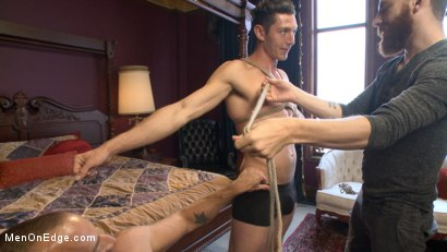 Photo number 2 from Greedy for edging: Tall hunk Logan Stone shoots a load in his own face shot for Men On Edge on Kink.com. Featuring Logan Stone in hardcore BDSM & Fetish porn.