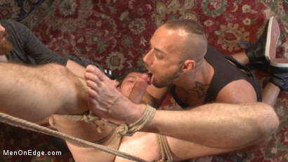 Photo number 12 from Greedy for edging: Tall hunk Logan Stone shoots a load in his own face shot for Men On Edge on Kink.com. Featuring Logan Stone in hardcore BDSM & Fetish porn.