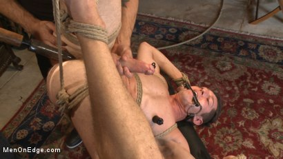Photo number 5 from Greedy for edging: Tall hunk Logan Stone shoots a load in his own face shot for Men On Edge on Kink.com. Featuring Logan Stone in hardcore BDSM & Fetish porn.