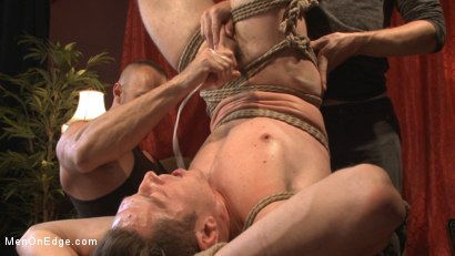 Photo number 7 from Greedy for edging: Tall hunk Logan Stone shoots a load in his own face shot for Men On Edge on Kink.com. Featuring Logan Stone in hardcore BDSM & Fetish porn.
