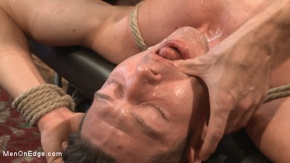Photo number 8 from Greedy for edging: Tall hunk Logan Stone shoots a load in his own face shot for Men On Edge on Kink.com. Featuring Logan Stone in hardcore BDSM & Fetish porn.