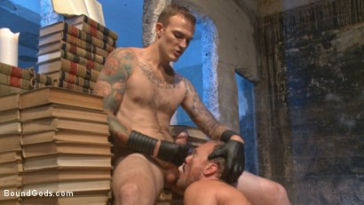 Photo number 13 from Coach Burke's Twisted Fantasy shot for Bound Gods on Kink.com. Featuring Christian Wilde and Chris Burke in hardcore BDSM & Fetish porn.