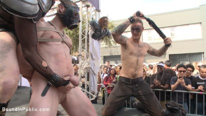 Photo number 1 from Cass Bolton is a Folsom Street Fair Whore shot for Bound in Public on Kink.com. Featuring Christian Wilde, Jessie Colter and Cass Bolton in hardcore BDSM & Fetish porn.