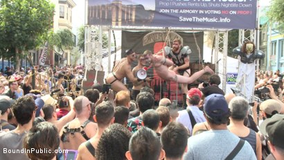 Photo number 4 from Cass Bolton is a Folsom Street Fair Whore shot for Bound in Public on Kink.com. Featuring Christian Wilde, Jessie Colter and Cass Bolton in hardcore BDSM & Fetish porn.