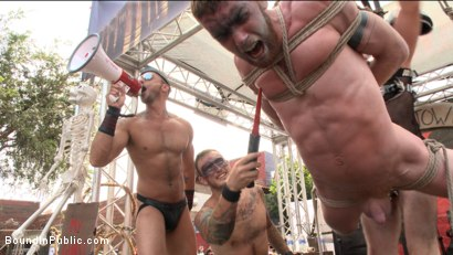 Photo number 3 from Cass Bolton is a Folsom Street Fair Whore shot for Bound in Public on Kink.com. Featuring Christian Wilde, Jessie Colter and Cass Bolton in hardcore BDSM & Fetish porn.