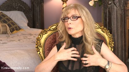 Photo number 6 from Introduction to Polyamory: Spreading the Love shot for Kink University on Kink.com. Featuring Nina Hartley in hardcore BDSM & Fetish porn.