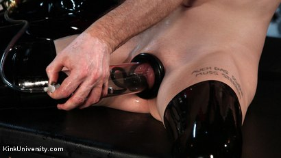 Photo number 9 from Suction Pumping shot for Kink University on Kink.com. Featuring Charlotte Sartre and Danarama in hardcore BDSM & Fetish porn.