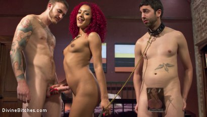 Photo number 3 from Daisy Ducati: The Cuckoldress shot for Divine Bitches on Kink.com. Featuring Christian Wilde, Daisy Ducati and Jay West in hardcore BDSM & Fetish porn.