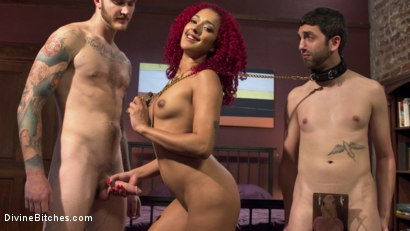 Photo number 13 from Daisy Ducati: The Cuckoldress shot for Divine Bitches on Kink.com. Featuring Christian Wilde, Daisy Ducati and Jay West in hardcore BDSM & Fetish porn.