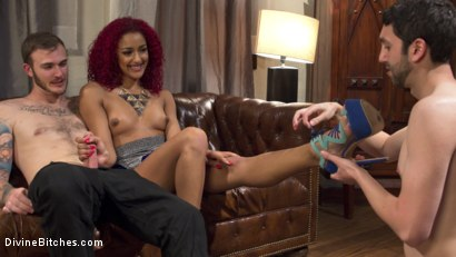 Photo number 1 from Daisy Ducati: The Cuckoldress shot for Divine Bitches on Kink.com. Featuring Christian Wilde, Daisy Ducati and Jay West in hardcore BDSM & Fetish porn.