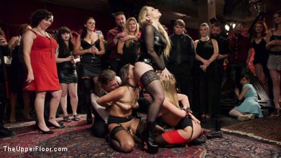 Photo number 11 from 19 Year Old Slaves Fuck for Cum Competition shot for The Upper Floor on Kink.com. Featuring Aiden Starr, Jaye Summers, Sydney Cole and Marco Banderas in hardcore BDSM & Fetish porn.