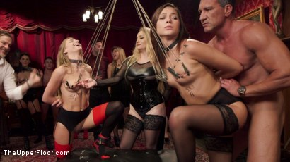 Photo number 6 from 19 Year Old Slaves Fuck for Cum Competition shot for The Upper Floor on Kink.com. Featuring Aiden Starr, Jaye Summers, Sydney Cole and Marco Banderas in hardcore BDSM & Fetish porn.
