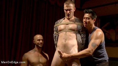 Photo number 13 from Edged in front of a live audience Christian Wilde blows a massive load shot for Men On Edge on Kink.com. Featuring Christian Wilde in hardcore BDSM & Fetish porn.