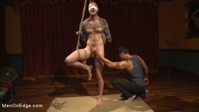 Photo number 9 from Edged in front of a live audience Christian Wilde blows a massive load shot for Men On Edge on Kink.com. Featuring Christian Wilde in hardcore BDSM & Fetish porn.