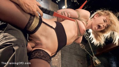 Photo number 4 from Anal Slut Trained in Hard Bondage: Alina West Day Two shot for The Training Of O on Kink.com. Featuring Alina West and Ramon Nomar in hardcore BDSM & Fetish porn.