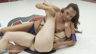 Photo number 5 from Erotic Wrestling with TS Jessica Fox and Bella Rossi shot for TS Pussy Hunters on Kink.com. Featuring Bella Rossi and Jessica Fox in hardcore BDSM & Fetish porn.