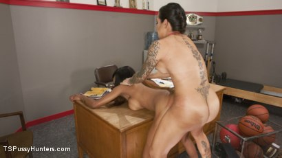 Photo number 2 from Video of Caramel Starr Taking Cock goes Viral! shot for TS Pussy Hunters on Kink.com. Featuring TS Foxxy and Caramel Starr in hardcore BDSM & Fetish porn.