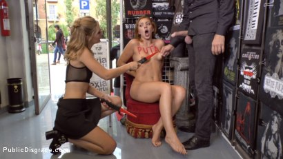 Photo number 12 from Pamela Sanchez's Walk of Atonement  shot for Public Disgrace on Kink.com. Featuring Mona Wales, Steve Holmes and Pamela Sanchez in hardcore BDSM & Fetish porn.