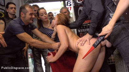 Photo number 20 from Pamela Sanchez's Walk of Atonement  shot for Public Disgrace on Kink.com. Featuring Mona Wales, Steve Holmes and Pamela Sanchez in hardcore BDSM & Fetish porn.