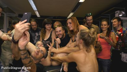 Photo number 13 from The Humiliation of Liz Rainbow - Part 1 Fitness Domination shot for Public Disgrace on Kink.com. Featuring Mona Wales, Liz Rainbow and Juan Lucho in hardcore BDSM & Fetish porn.