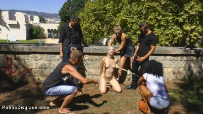 Photo number 8 from The Humiliation of Liz Rainbow - Part 1 Fitness Domination shot for Public Disgrace on Kink.com. Featuring Mona Wales, Liz Rainbow and Juan Lucho in hardcore BDSM & Fetish porn.
