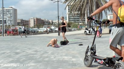 Photo number 3 from Beach Babe Covered in Filth and Used Like a Public Trashcan  shot for Public Disgrace on Kink.com. Featuring Mona Wales, Nick Moreno and Chiki Dulce in hardcore BDSM & Fetish porn.